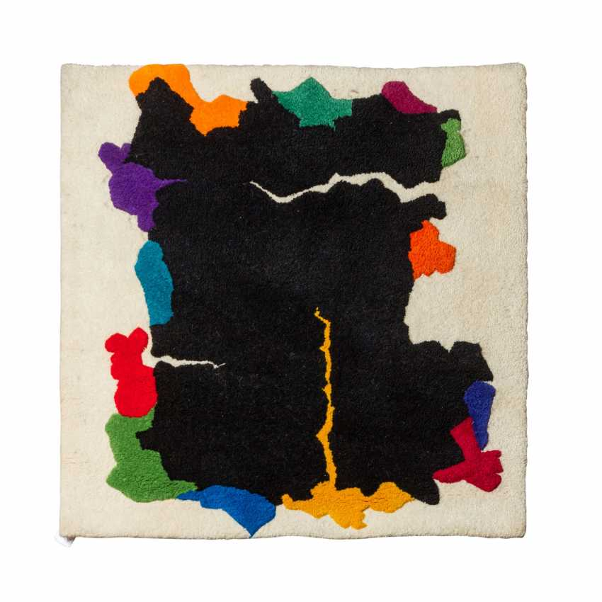 Design carpet made of wool, 1970s, 118x118 cm. - photo 1