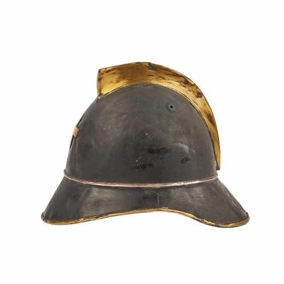 2 helmets - Switzerland and France. Firefighter's helmet probably. around 1900, - photo 3