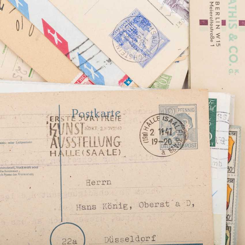 Approximately 100 letters and cards, from the high inflation of 1923 - photo 2