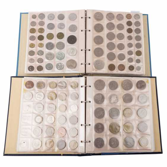 2 coin albums with colorful, mixed-content, in SILVER - - photo 1