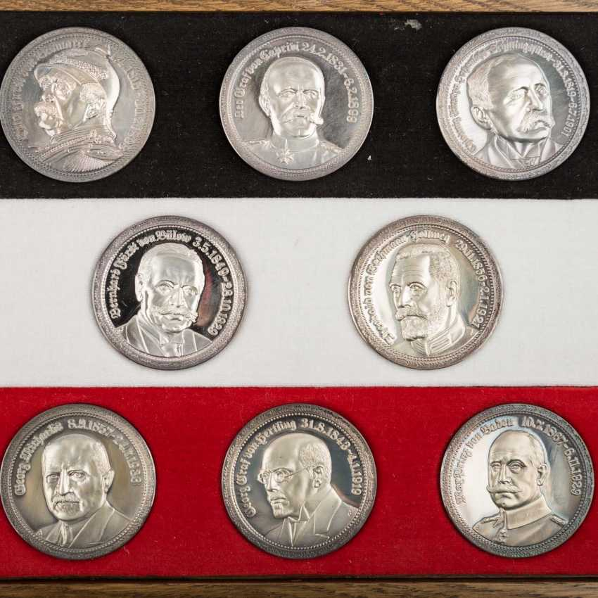 "SILVER commemorative medals Set ""German history in the Portrait of your Registrar"" - - photo 2"