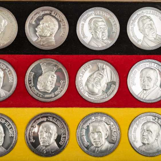 "SILVER commemorative medals Set ""German history in the Portrait of your Registrar"" - - photo 3"