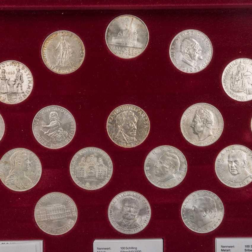 """Austria - casket - """"The silver commemorative coins - photo 2"""