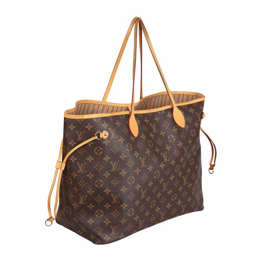 """LOUIS VUITTON shopper tote bag """"NEVERFULL GM"""", collection: 2012. - photo 2"""