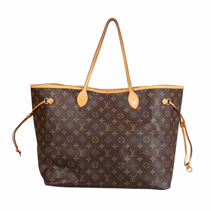"""LOUIS VUITTON shopper tote bag """"NEVERFULL GM"""", collection: 2012. - photo 4"""