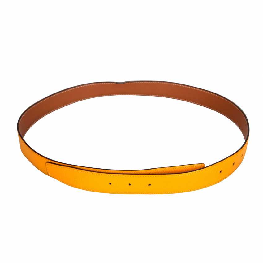 HERMÈS reversible belt strap, length: 100 cm, price: 360,-€. - photo 1