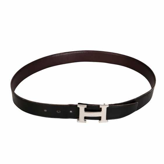 HERMÈS reversible belt, length: 90 cm, price: approx. 660,-€. - photo 1
