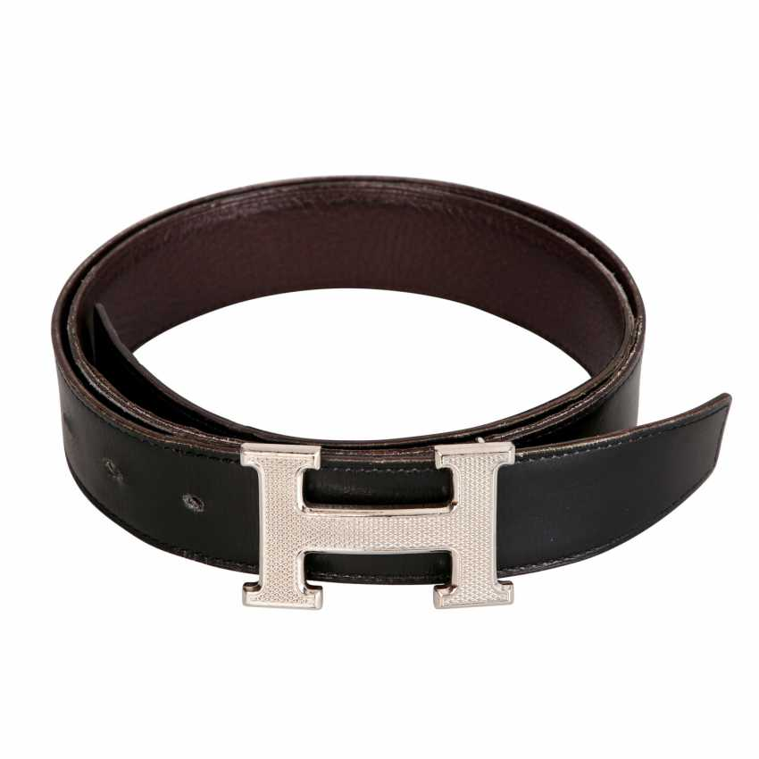 HERMÈS reversible belt, length: 90 cm, price: approx. 660,-€. - photo 2