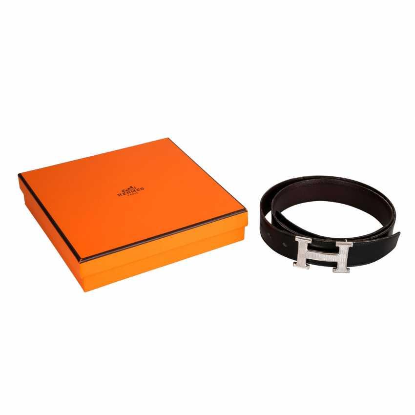 HERMÈS reversible belt, length: 90 cm, price: approx. 660,-€. - photo 3