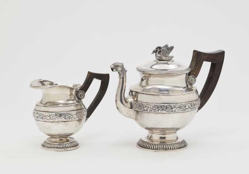 Coffee pot and cream jug. Augsburg, in the year 1827 - 1828, Georg C. F. Tem(m)ler - photo 1