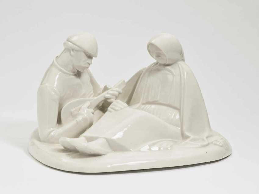 Russian Couple In Love'. Black Burger workshops for porcelain art, white brook, In 1908, Ernst Barlach - photo 1