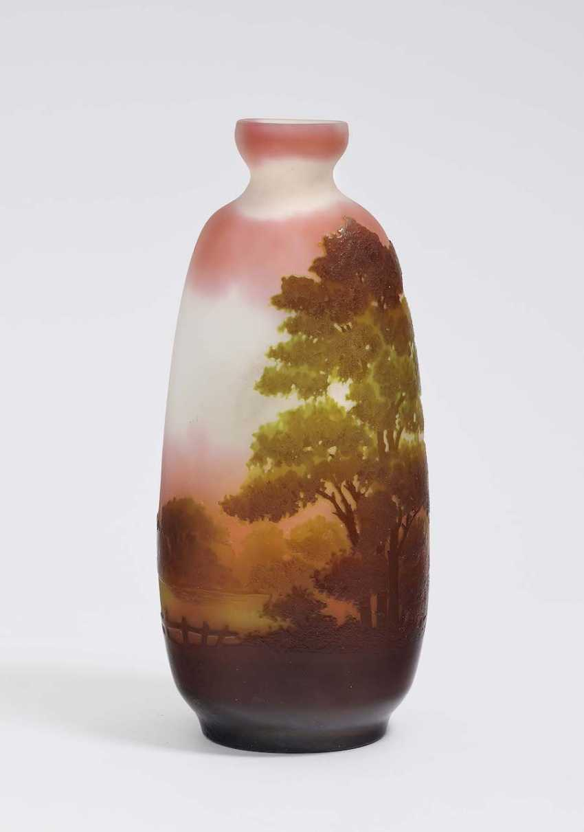 Vase 'landscape of glass'. Emile Gallé, Nancy, 1906-1914 - photo 1