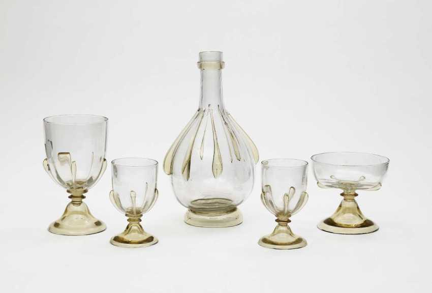 Trinkset, five-piece. Emile Gallé, Nancy, 1900-1910 - photo 1