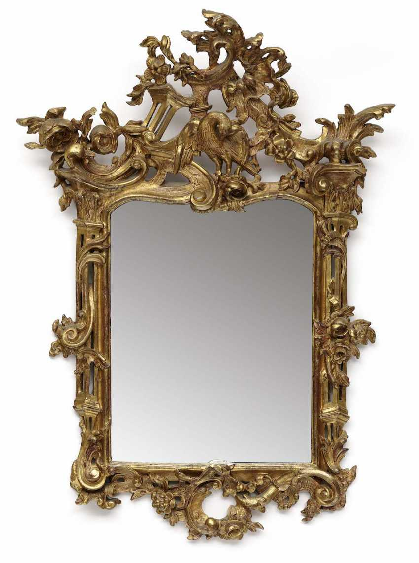 Mirror. South German (Swiss Francs), In The Middle Of 18. Century - photo 1