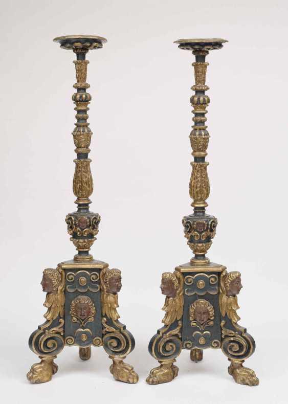 A Pair Of Altar Candlesticks. Italy, 17. Century - photo 1