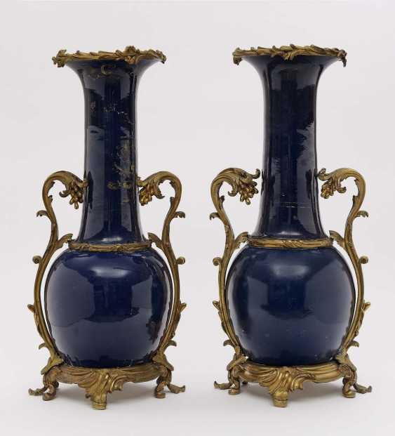 A Pair Of Ornamental Vases. 19. Century - photo 1