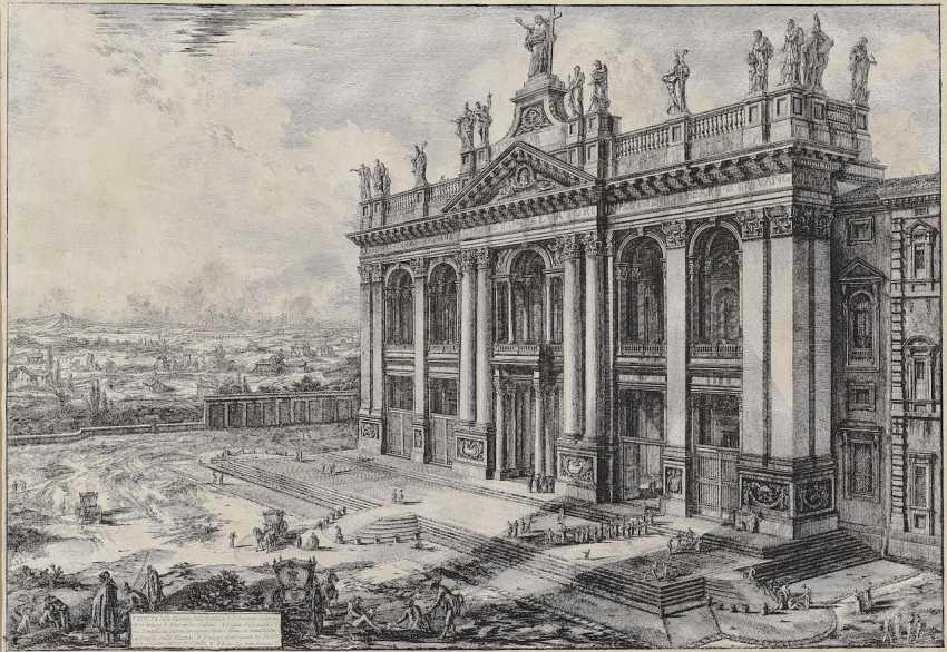 Piranesi, Giovanni Battista. View of the Facade of the Basilica of St. John Lateran - photo 1