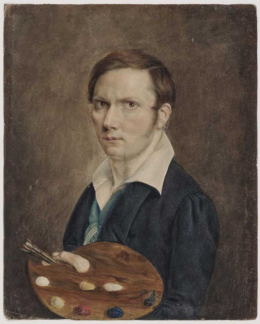 English. Portrait of a painter with Palette - photo 1