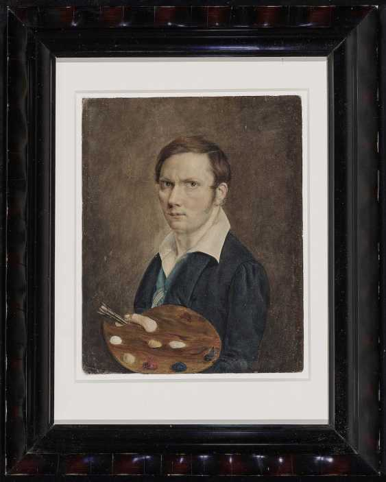 English. Portrait of a painter with Palette - photo 2