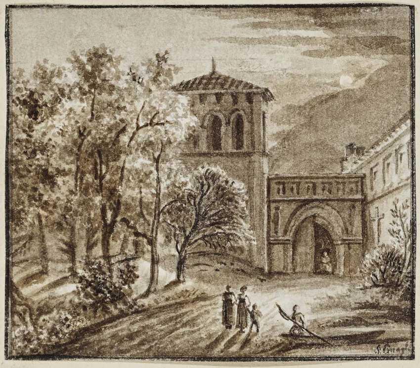 Quaglio, Simon. In front of the castle - photo 1