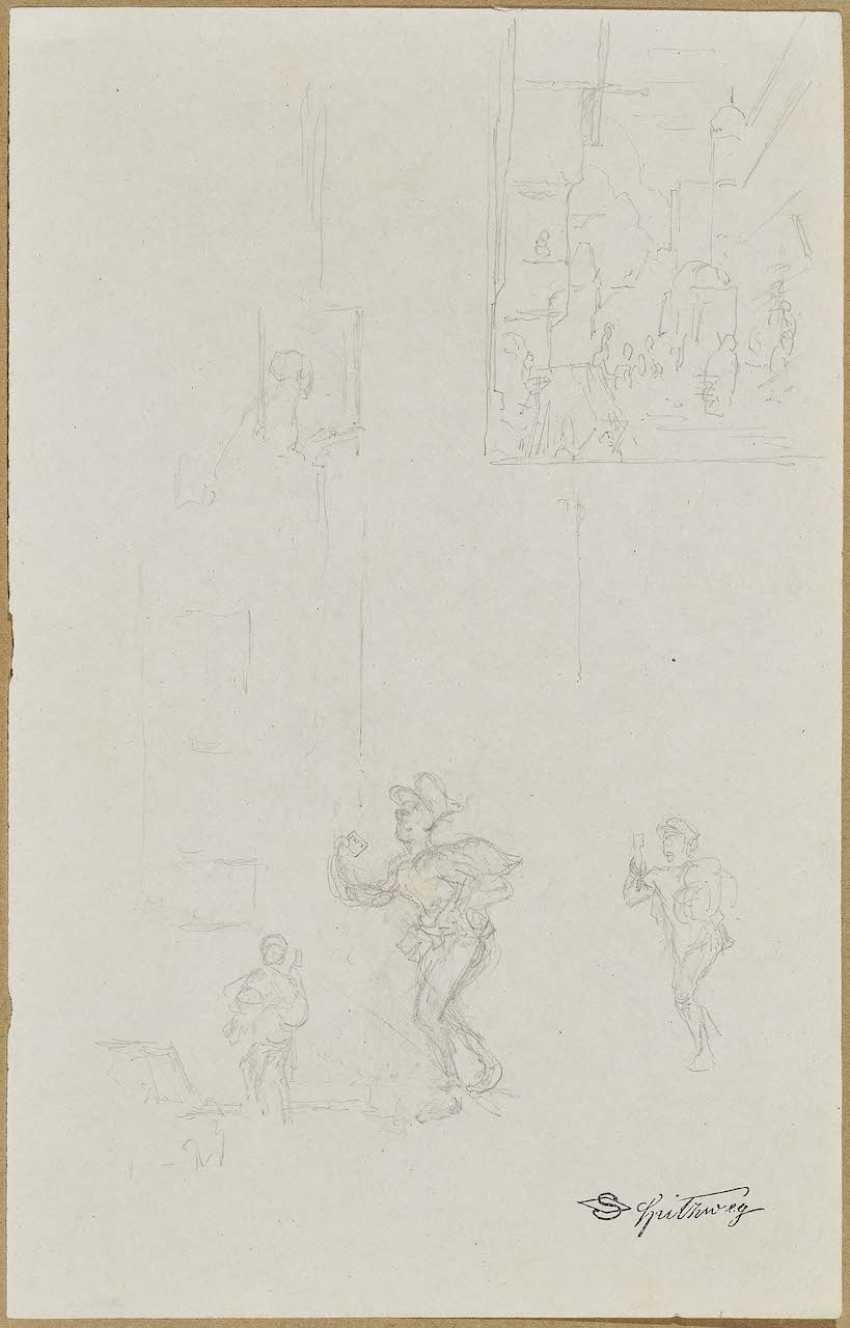 "Spitzweg, Carl. Studies of the ""letter messenger in Rosenthal"" - photo 1"