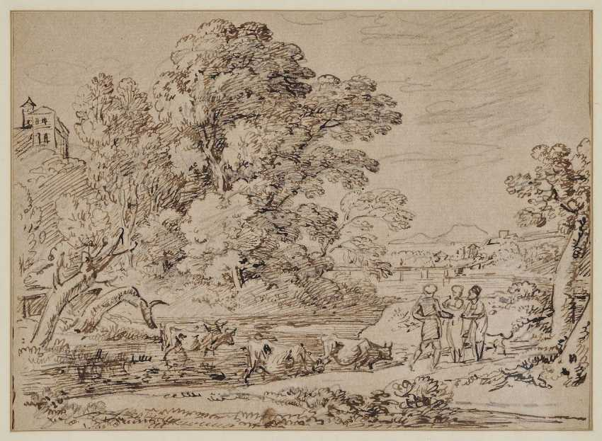 Dillis, Johann Georg von. Isarlandschaft with the castle of Harlaching - photo 1