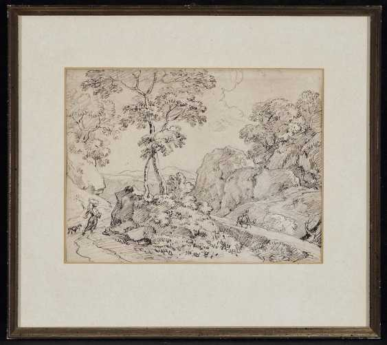 Dillis, Johann Georg von. Tree-lined rocky landscape with travellers - photo 2