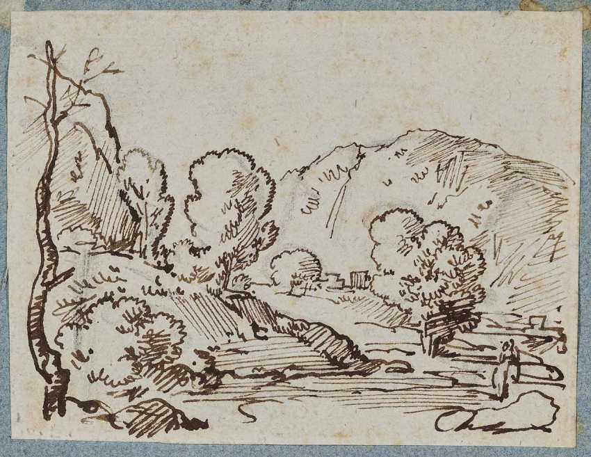 Dillis, Johann Georg von, attributed to. Tree-Lined Hills - photo 1