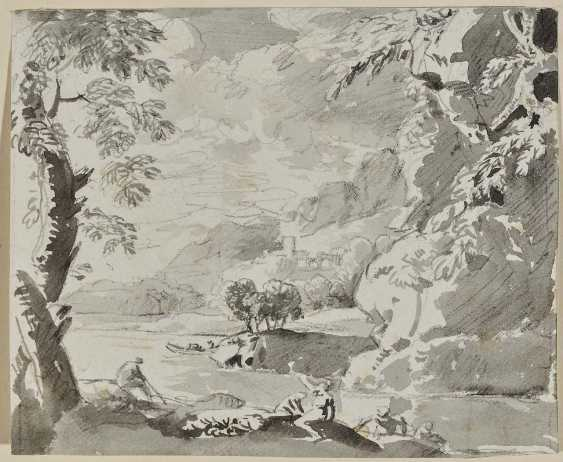 Dillis, Johann Georg von. Arcadian river landscape with bathers - photo 1