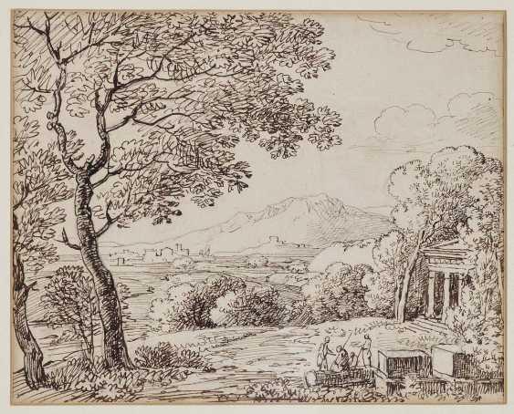 Dillis, Johann Georg von. Antique-like landscape with figure staffage - photo 1