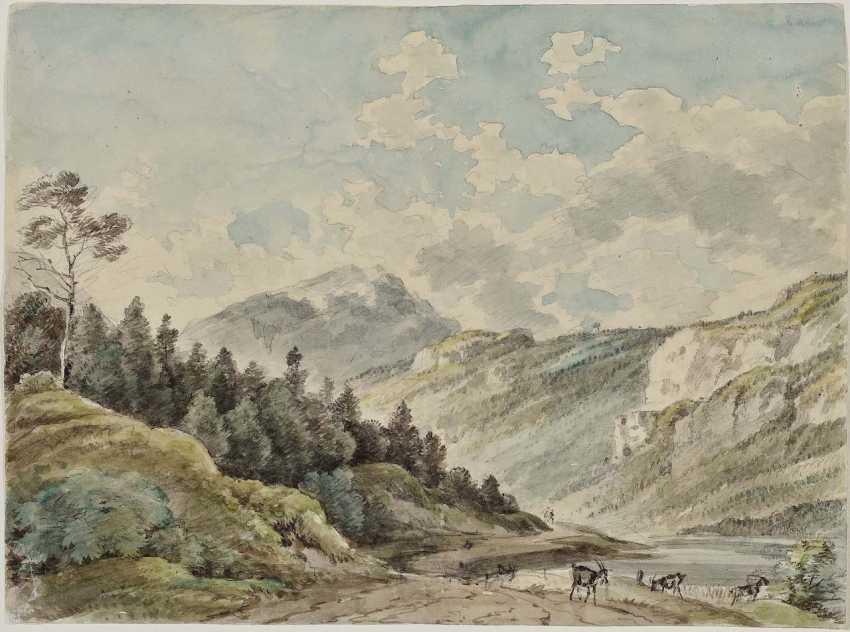 Bavaria, 1. Half of the 19th century. Century. At the Saalach river in the Kingdom hall - photo 1