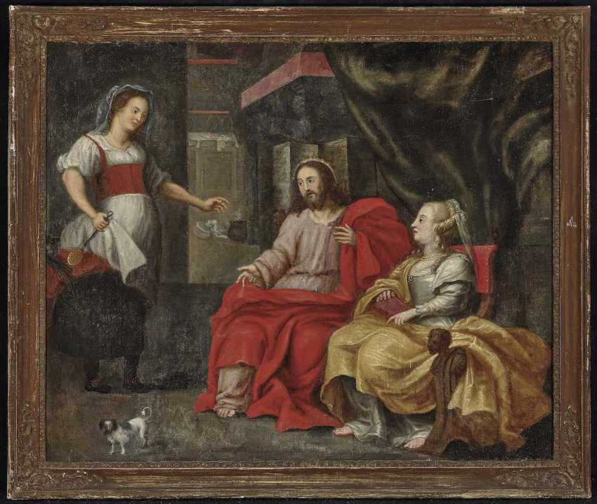 Flemish, 17. Century. Christ in the house of Mary and Martha - photo 2