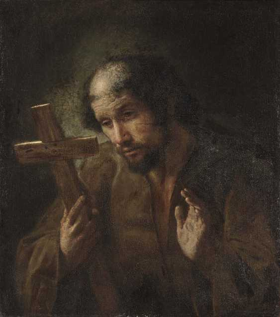 Netherlands, 1. Half of the 17. Century. Franciscan Saint in adoration of the cross - photo 1