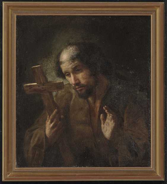 Netherlands, 1. Half of the 17. Century. Franciscan Saint in adoration of the cross - photo 2