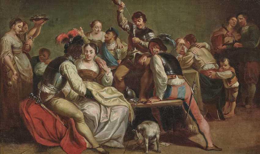 Netherlands (Utrecht?), 17. Century. Partying Company - photo 2