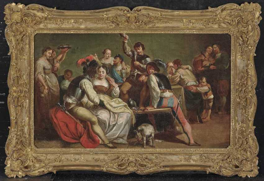 Netherlands (Utrecht?), 17. Century. Partying Company - photo 1