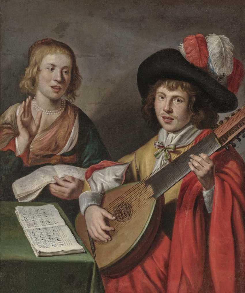 Netherlands (Utrecht?), 17. Century. Music-Making Couple - photo 1