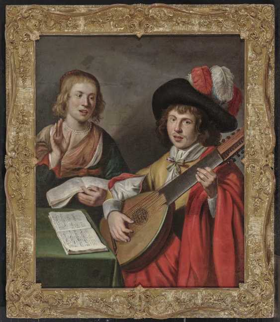 Netherlands (Utrecht?), 17. Century. Music-Making Couple - photo 2
