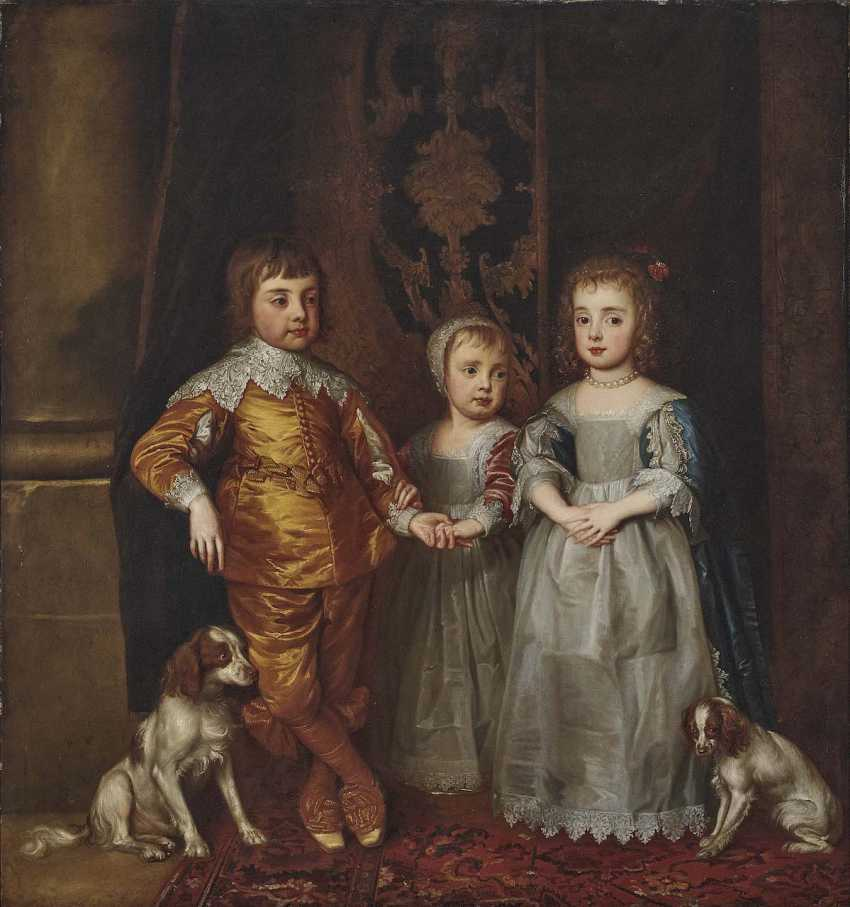 according to Dyck, Anthony van. The three oldest children of the English king Charles I. - photo 1