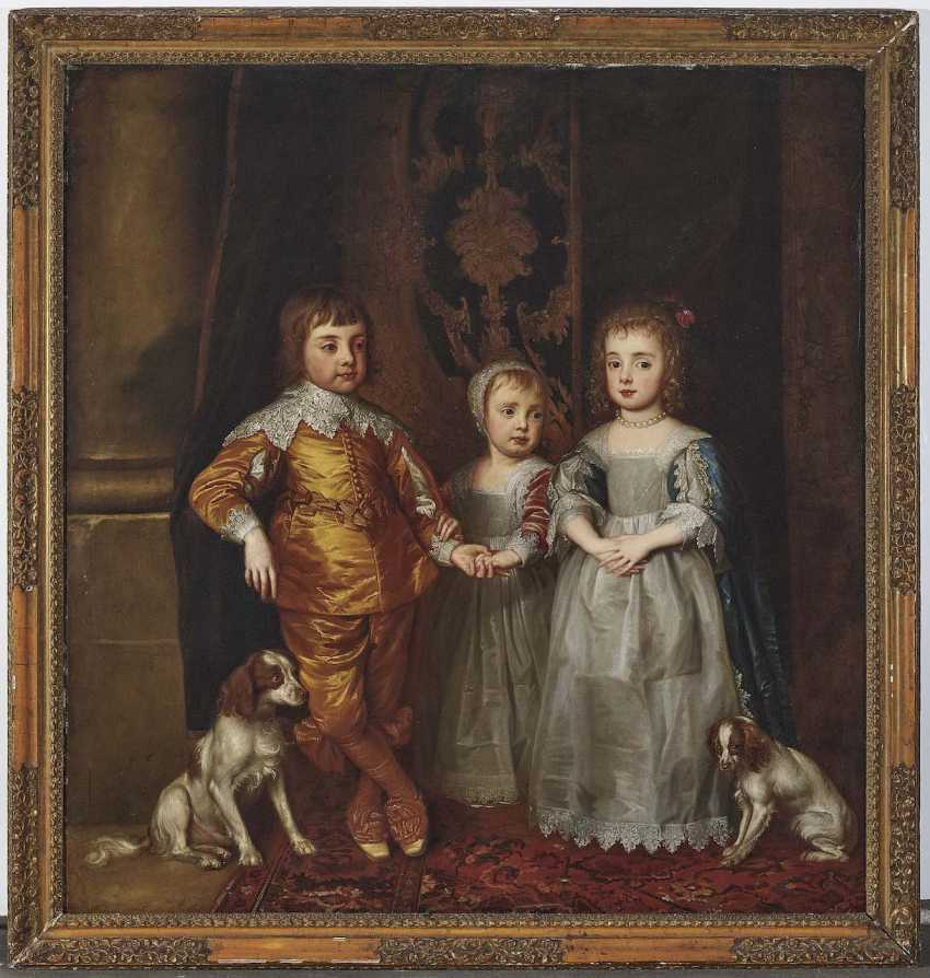 according to Dyck, Anthony van. The three oldest children of the English king Charles I. - photo 2