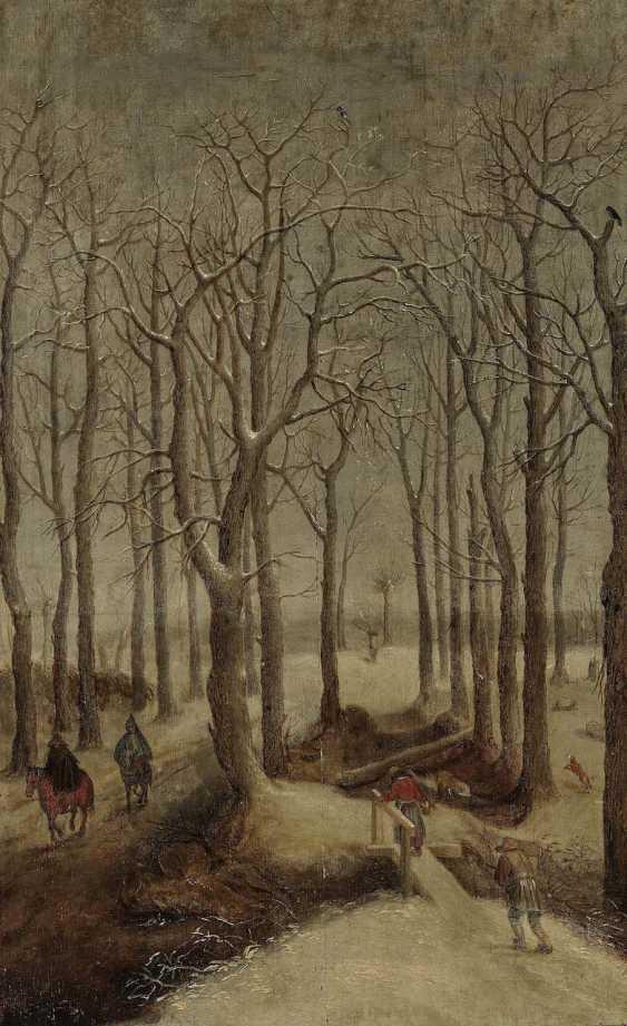 Flemish, 16. Century. Winter forest landscape with figure staffage - photo 1