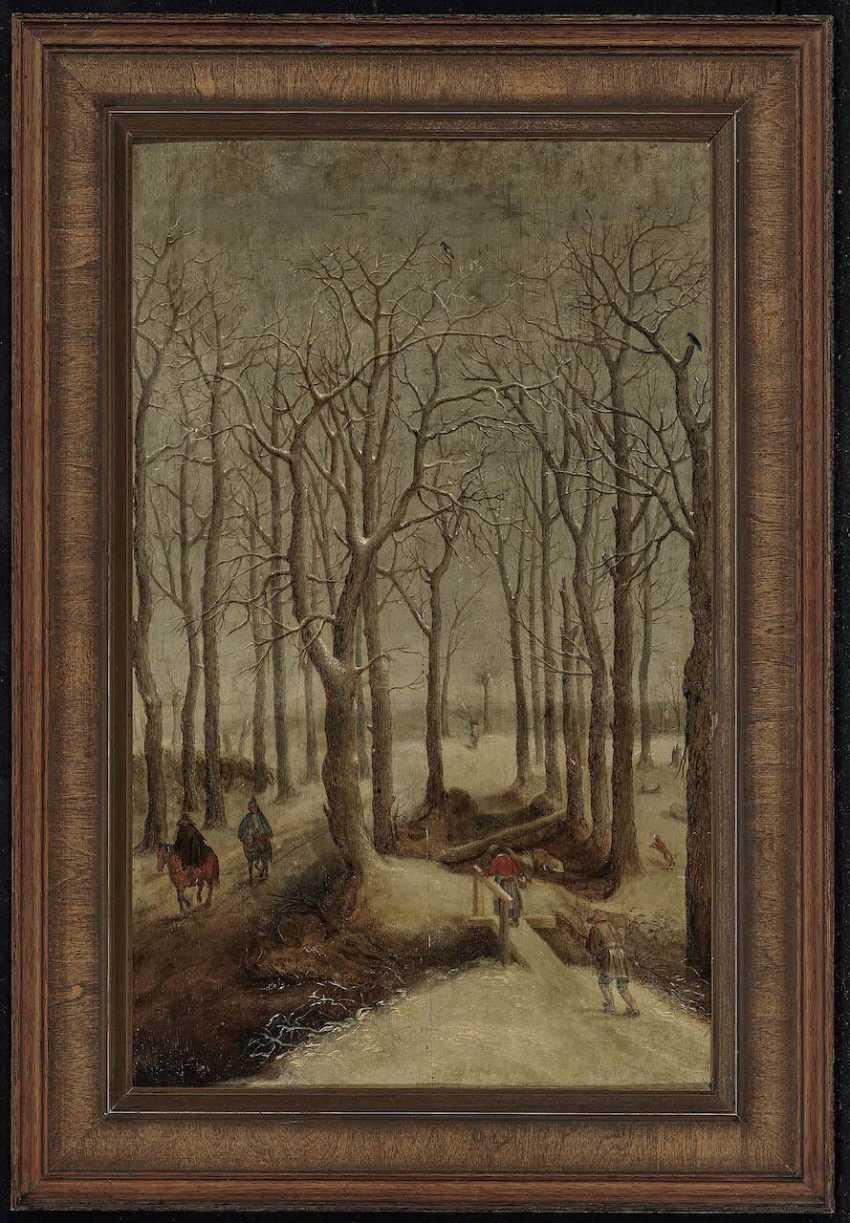 Flemish, 16. Century. Winter forest landscape with figure staffage - photo 2
