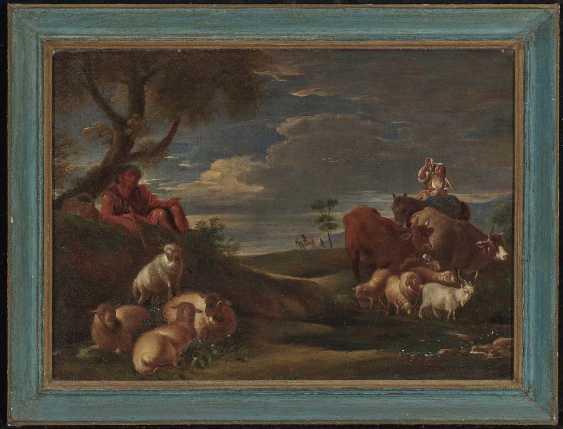Roos, gene. Rosa da Tivoli, Philipp Peter, the district. Shepherds with cattle - photo 2