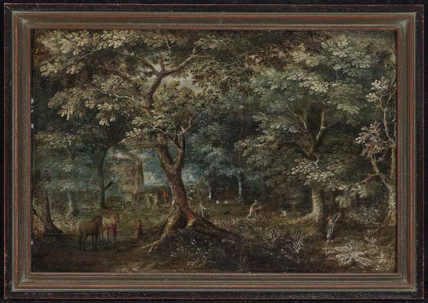 Flemish, 17. Century. Forest landscape with figure staffage - photo 2