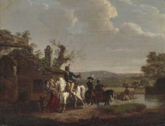Swebach, gen. Swebach de Fontaine, Jacques François Joseph, attributed to. Riders in front of HOMESTEAD - photo 1