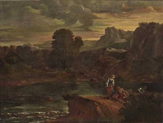 Italy (?) 18. Century. River landscape with figure staffage - photo 1