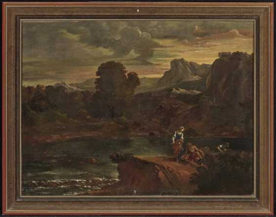 Italy (?) 18. Century. River landscape with figure staffage - photo 2
