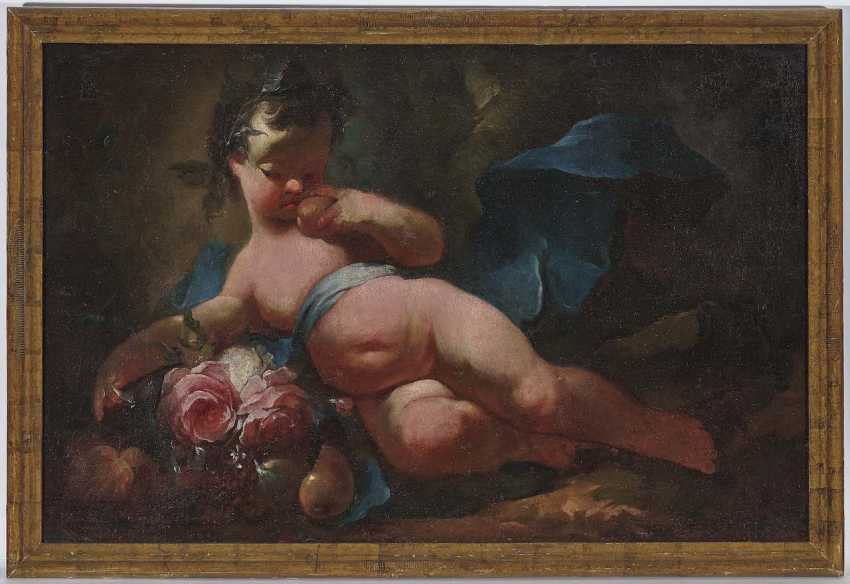 South German or Austrian. Putto with flowers and fruits - photo 2