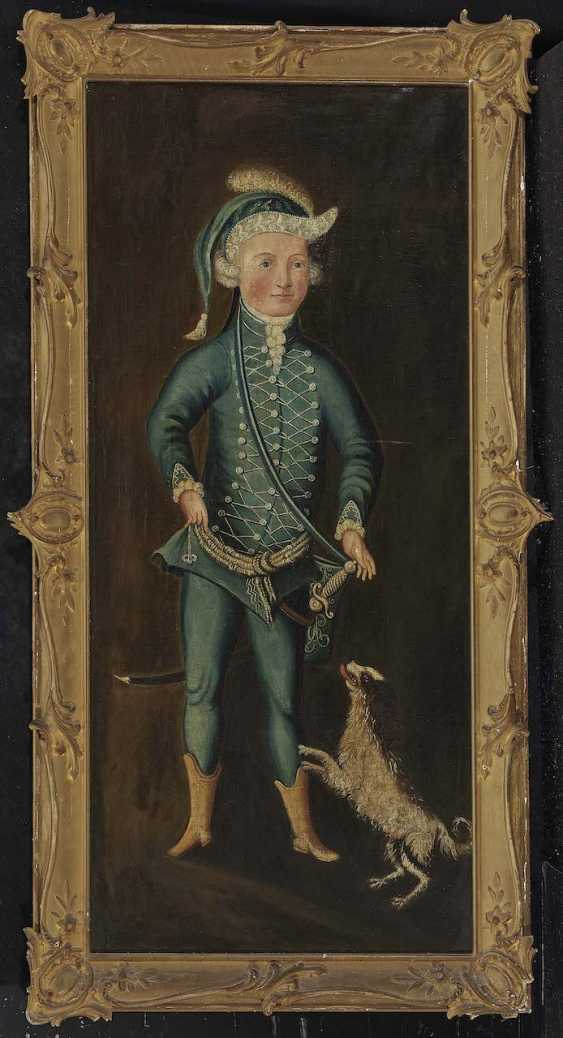 Unknown, 18. Century. Portrait of a boy with a dog - photo 2