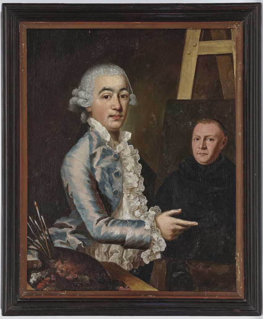Holiday, Georg Anton Abraham. Self-portrait of the artist at the easel - photo 2
